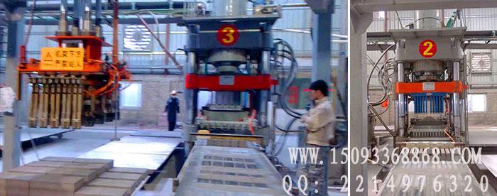 全自动液压砖机生产现场